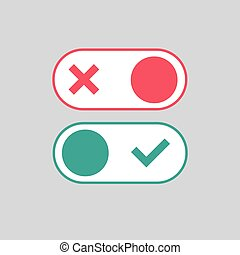 Toggle switch icon