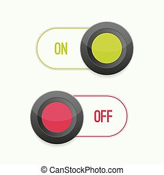 Toggle Switch On and Off position. Button. ui interface