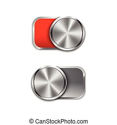 Toggle Switch On and Off position, On/Off sliders