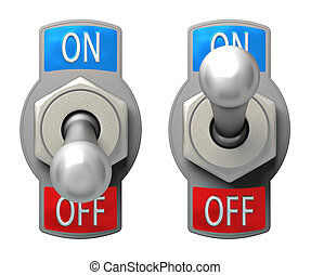 Toggle Switch set on white background