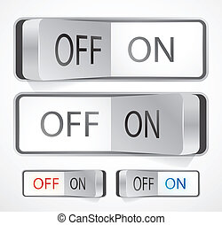 Toggle switch - Vector illustration for your design
