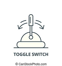 Toggle switch vector line icon, linear concept, outline sign, symbol