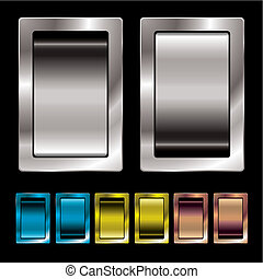 Toggle switches of different sizes