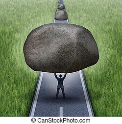togliendo, ostacoli