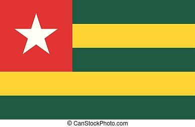 togo , εθνική σημαία
