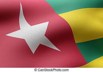 Togo 3d flag