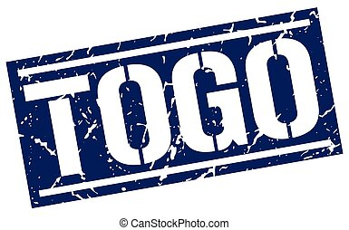 Togo blue square stamp