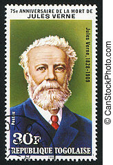 Jules Verne - TOGO - CIRCA 1980: stamp printed by Togo, ...