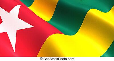 Togo flag 3d