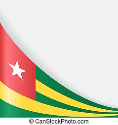 Togo flag background. Vector illustration. - Togo flag wavy...