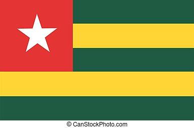 Togo flag vector National flag of Togo