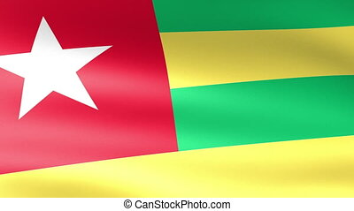 Togo Flag Waving