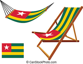 togo hammock and deck chair set against white background,...
