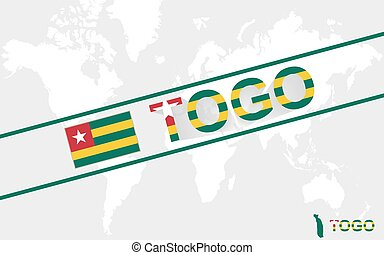 Togo map flag and text illustration