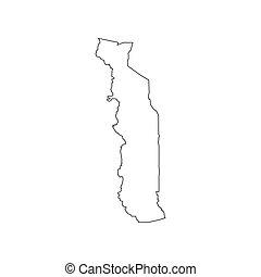 Togo map silhouette