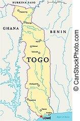 togo, politiek, kaart