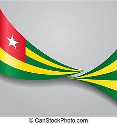 Togo wavy flag. Vector illustration. - Togo flag wavy...
