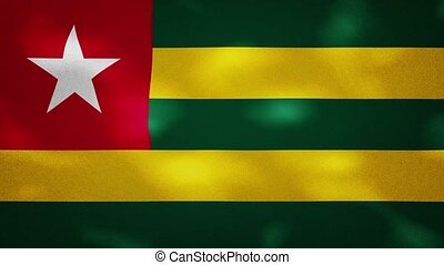Togo dense flag fabric wavers, perfect loop for background