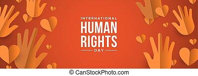 toile, égalité, droits, humain, social, bannière, jour