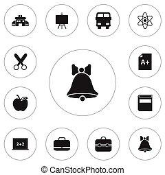 toile, être, ensemble, connaissance, mobile, boîte, pomme, editable, utilisé, inclut, symboles, infographic, ui, icons., tel, more., 12, littérature, page, design.