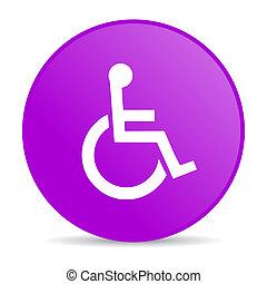 toile, accessibilité, lustré, violet, cercle, icône