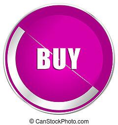 toile, achat, internet, métallique, conception, violet, icon., frontière, argent