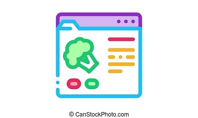 toile, animation, site, ordre, icône, nourriture