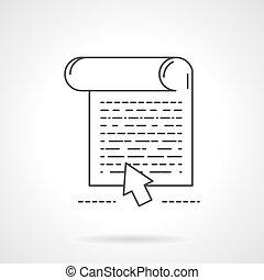 toile, article, icône, vecteur, conception, ligne, plat