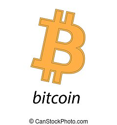 toile, bitcoins, monnaie, autocollant, bitcoin, crypto, isolé, arrière-plan., pages, printing., logo, blanc, ou, bloc, bitocones
