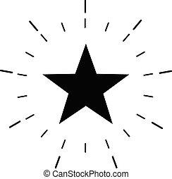 toile, blanc, starburst, symbole., app, étoile, ui., excellence, style., excellent, logo, plat, signe., qualité, arrière-plan., conception, éclat, ton, briller, site, icône