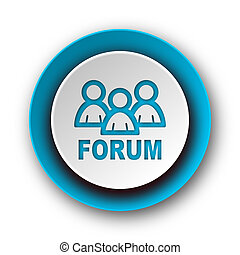 toile, bleu, moderne, fond, forum, icône, blanc