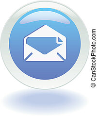 toile, bouton, email