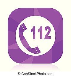 toile, carrée, 10., urgence, webdesign, mobile, bouton, violet, eps, signe, application, vecteur, appeler, arrière-plan., internet, conception, icon., blanc