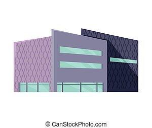 toile commerciale, plat, centre commercial, gabarit, design.
