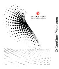 toile, composition, fond, gabarit, (halftone)
