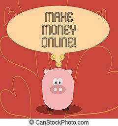 toile, concept, argent, business, technology., texte, faire, écriture, signification, online., innovation, écriture, ebusiness, ecommerce