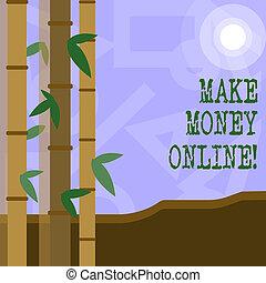 toile, concept, argent, business, technology., texte, faire, signification, online., innovation, écriture, ebusiness, ecommerce