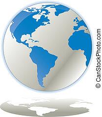 toile, concept, globe, vec, icône internet