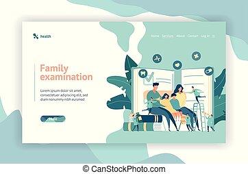toile, concept, médecin de famille, conception, pédiatre, page