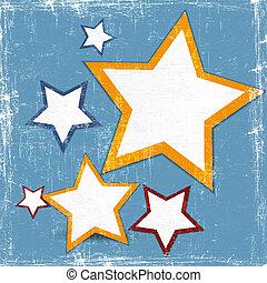 toile, conception abstraite, étoile