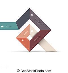 toile, conception abstraite, forme, géométrique