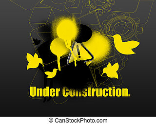 toile, construction, gabarit, sous