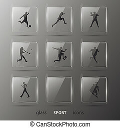 toile, ensemble, 10, eps, icons., vector.