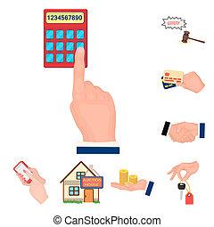 toile, ensemble, illustration., icones affaires, symbole, collection, bitmap, e-commerce, vente, design., dessin animé, achat, stockage