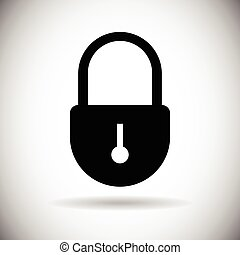 toile, ensemble, serrure, accès, fermé, sécurité, icône