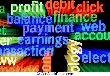 toile, finance, revenus