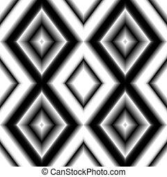 toile fond., blanc, coloré, seamless, rhombs, gradient, couleurs, noir, texture.