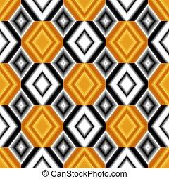 toile fond., blanc, jaune, coloré, seamless, rhombs, gradient, couleurs, noir, texture.
