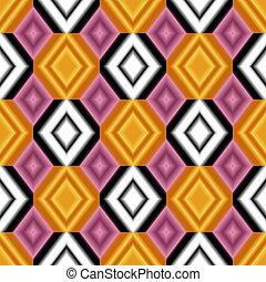 toile fond., blanc, rose, jaune, coloré, seamless, rhombs, gradient, couleurs, texture.
