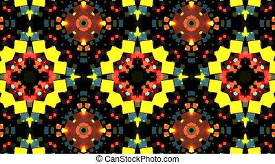 toile fond., coloré, résumé, arrière-plan., kaléidoscopique, vidéo